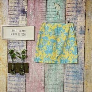 Lilly Pulitzer Animal Print Junkanoo Teal Skirt